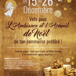 Vote pour l'ambiance et l'accueil de Noël de ton commerce préféré